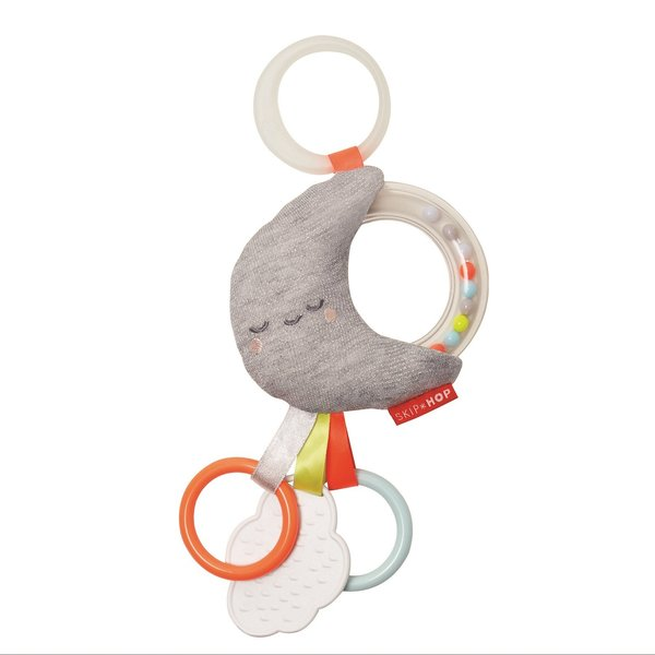 View larger image of Silver Lining Cloud Stroller Toy - Moon
