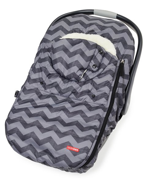 View larger image of STROLL & GO Car Seat Cover - Tonal Chevron