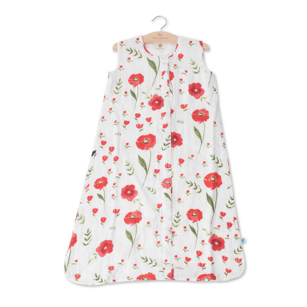 View larger image of Cotton Muslin Sleep Bag - Summer Poppy