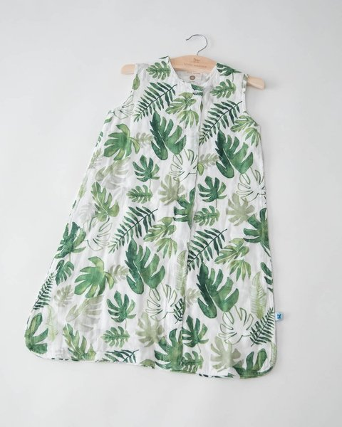 View larger image of Muslin Cotton Sleep Bag - Tropical Leaf