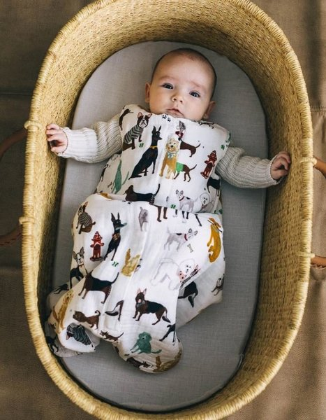 View larger image of Cotton Muslin Sleep Bag - Woof