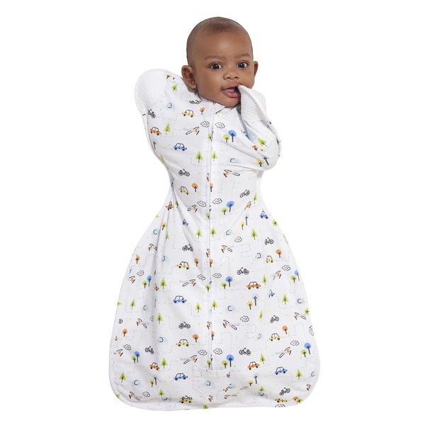 View larger image of SleepSack Self-Soothing Swaddle - Boy Tinytown - NB