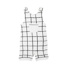 Organic Sleeveless Romper - Hopscotch