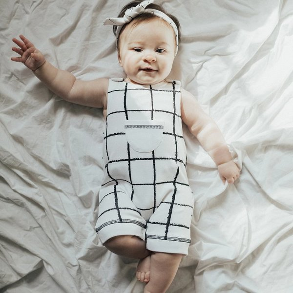 View larger image of Organic Sleeveless Romper - Hopscotch