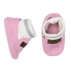 Slippers - 0-4 Months - Sunset Pink