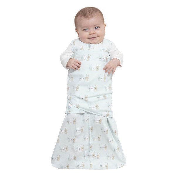 View larger image of SleepSack Swaddle - 1.5T - Blue Bunnies - S