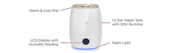 View larger image of Smart Humidifier Warm/Cool Mist
