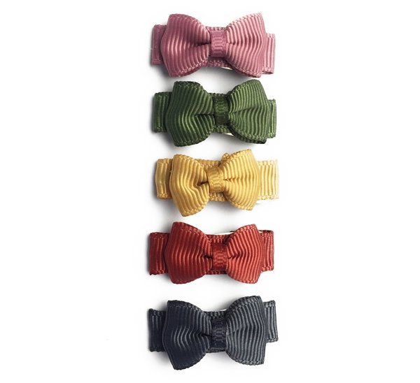 View larger image of Snap Clip Tuxedo  Bows - 5pk - Little & Brave