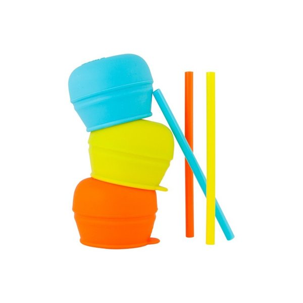 View larger image of Snug Straw with Lids - 3 Pack