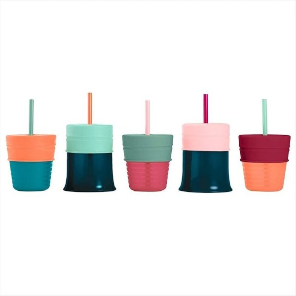 View larger image of Snug Straw with Lids and Cup - 3 Pack