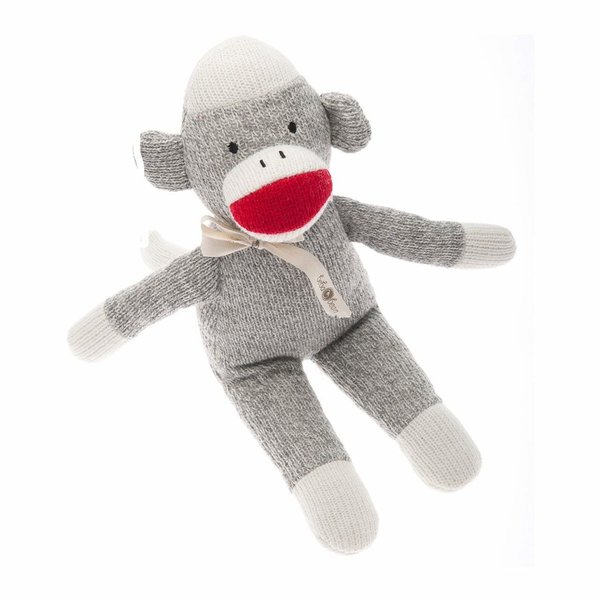 View larger image of Sock Monkey Rattle - Grey