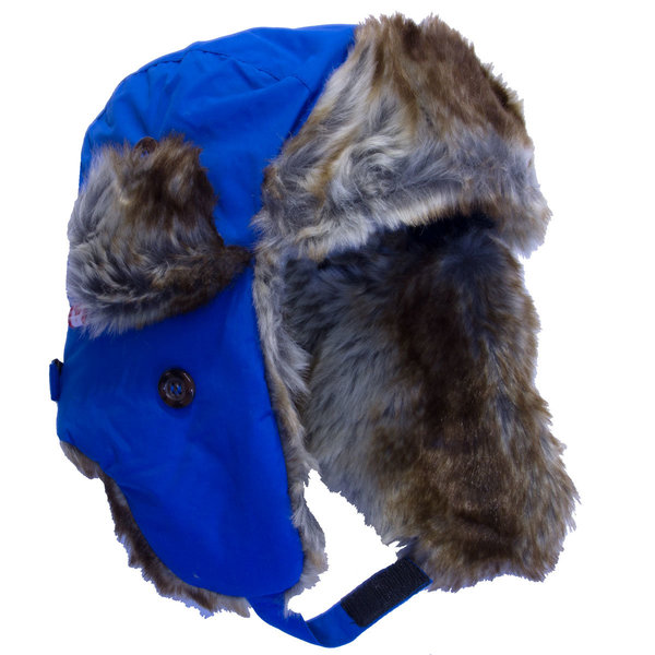 View larger image of Solid Trapper Hat-Blue