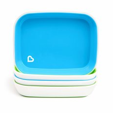 Splash Plates - Blue/Green - 4pk