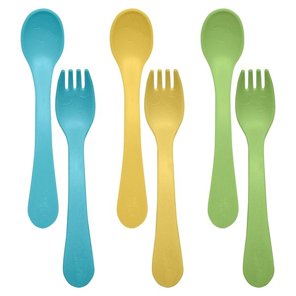 View larger image of Sprout Fork & Spoon 6pk Aqua