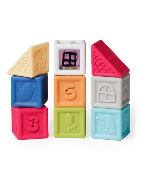 View larger image of Vibrant Village Squeeze & Squeak Blocks