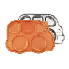 Stainless Platter - Orange Lid
