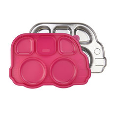 Stainless Platter - Pink Lid