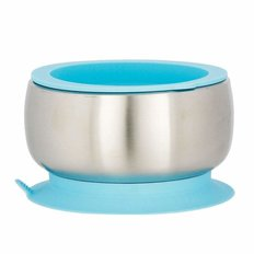 Stainless Steel Baby Bowl - Blue