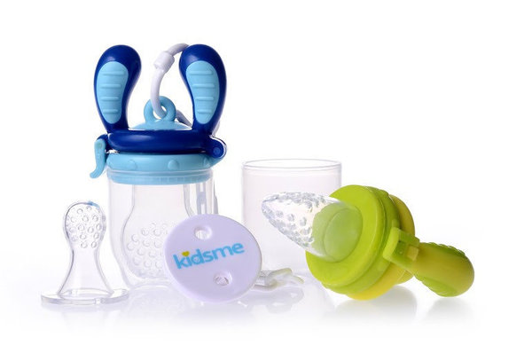 View larger image of Food Feeder Starter Pack Lime & Aquamarine