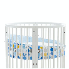 Sleepi Mini Crib Bumper - Silhouette Blue