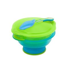 Suction Bowl With Lid + Spoon