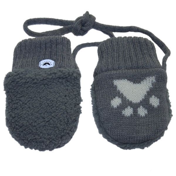 View larger image of Super Soft Mitts-Grey