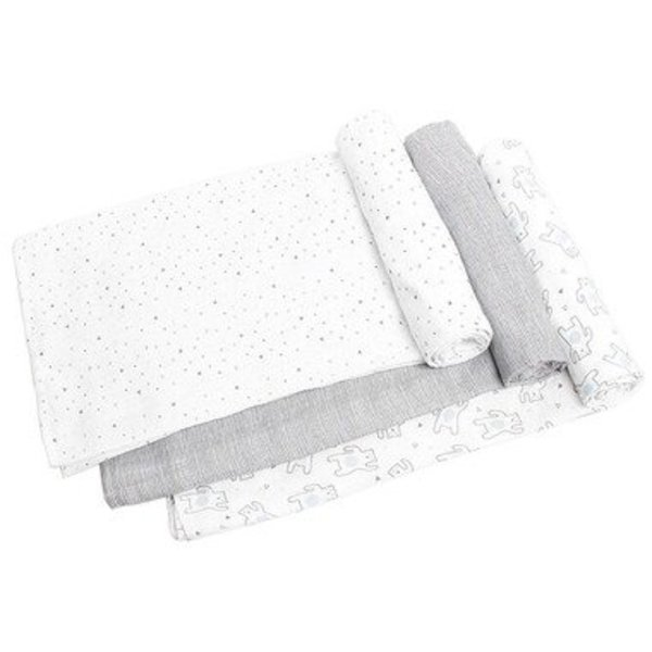 View larger image of Muslin Swaddles - Bears - 3 Pack