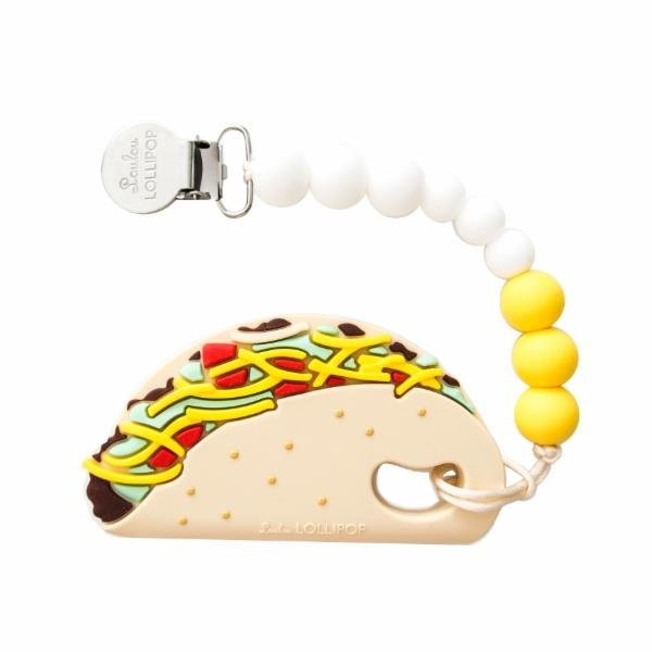 View larger image of Tacos Silicone Baby Teether Holder Set