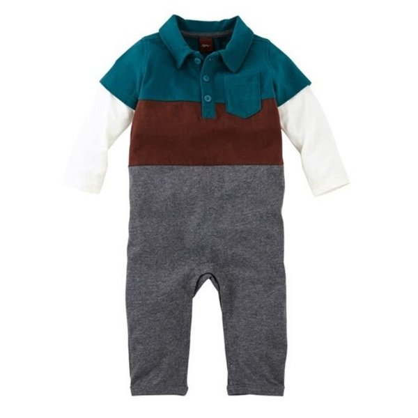 View larger image of Bernhard Tidepool Polo Romper - 0-3 Months