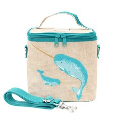 Teal Narwhal Cooler Bag - Small