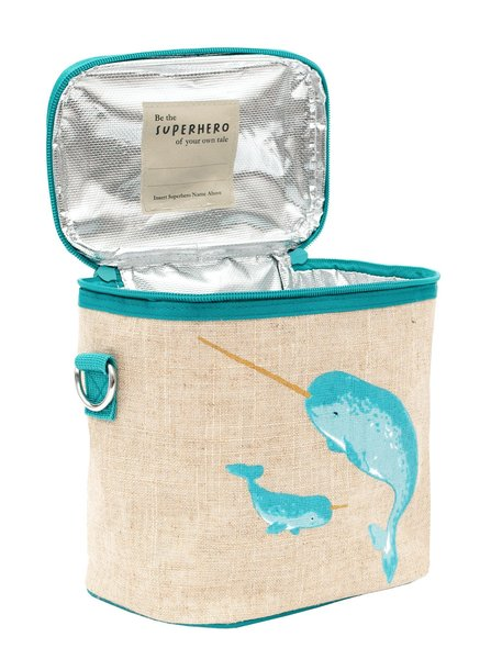 View larger image of Teal Narwhal Cooler Bag - Small