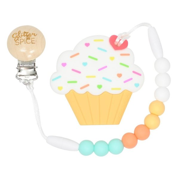 View larger image of Teether - Creamsicle Cupcake