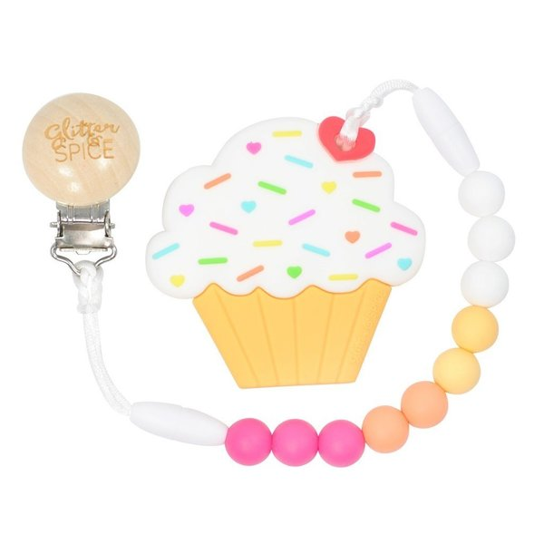 View larger image of Teether - Raspberry Lemonade Cupcake