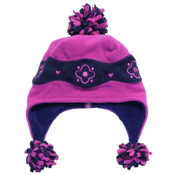 View larger image of Terry Pom Hat-L-Fucshia/Navy