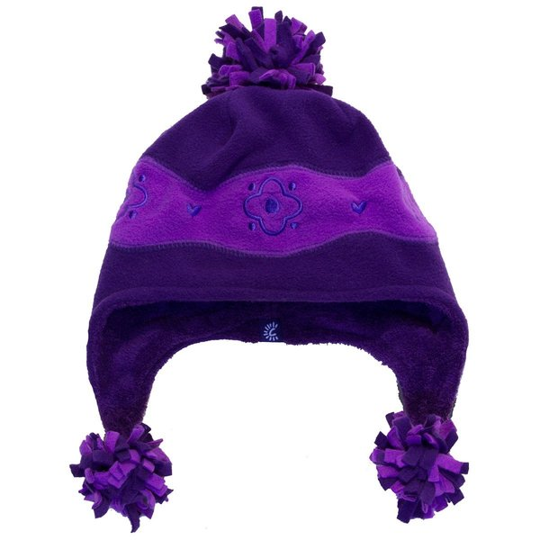 View larger image of Terry Pom Hat - Iris/Plum - Large
