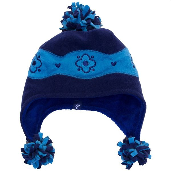 View larger image of Terry Pom Hat - Navy/Blue - Large
