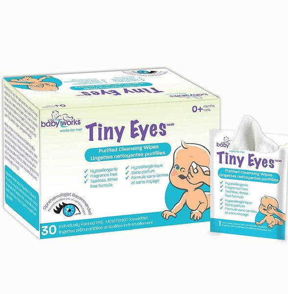 View larger image of Tiny Eyes Cleansing Wipes - 30pk