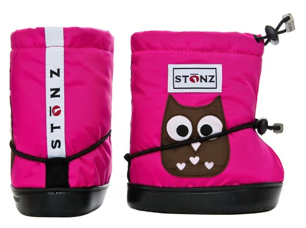 View larger image of Booties - Fuchsia Owl