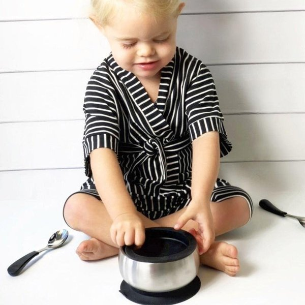 View larger image of Stainless Steel Toddler Spoons - 2 Pack - Black