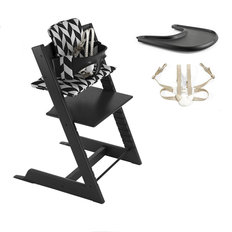 Tripp Trapp High Chair Complete - Black Chevron