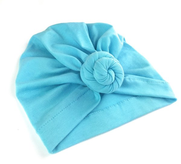 View larger image of Turban Knot Hat - Light Blue