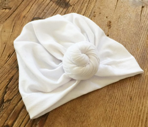 View larger image of Turban Knot Hat - White