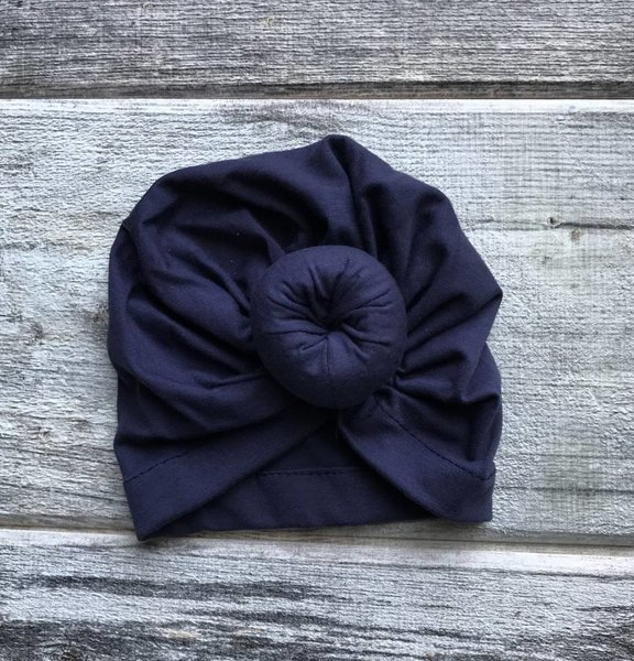View larger image of Turban - Navy Blue