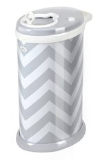 Ubbi Diaper Pail - Grey Chevron