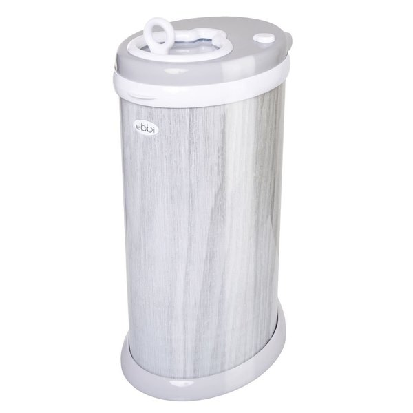View larger image of Ubbi Diaper Pail - Grey Wood Grain