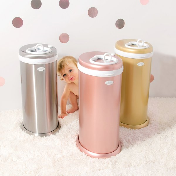 View larger image of Ubbi Diaper Pail - Stainless Steel Chrome