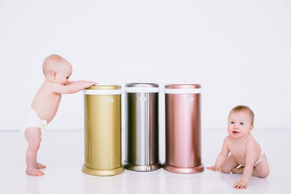 View larger image of Ubbi Diaper Pail - Stainless Steel Rose Gold