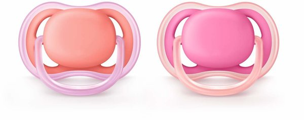 View larger image of Ultra Air Pacifier - Pink/Peach - 0-6 Months