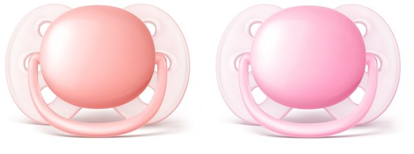 View larger image of Ultra Soft Pacifier Pink/Peach