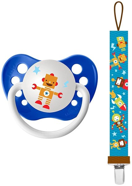 View larger image of Robot Pacifier & Clip Combo
